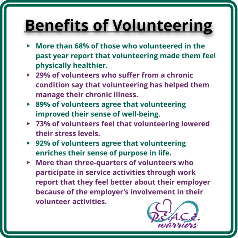 benefits of volunteering essays Volunteering not only helps and benefits one's community but, in a way, it benefits the volunteers themselves for instance, i believe volunteering makes a person feel worthy, as if they've accomplished something because they made someone else's life better or.